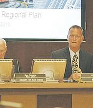 Directivos de SANDAG al presentar el proyecto derrotado en las urnas en las elecciones del 8 de noviembre. Foto-Archivo: Horacio Rentería/El Latino San Diego.
