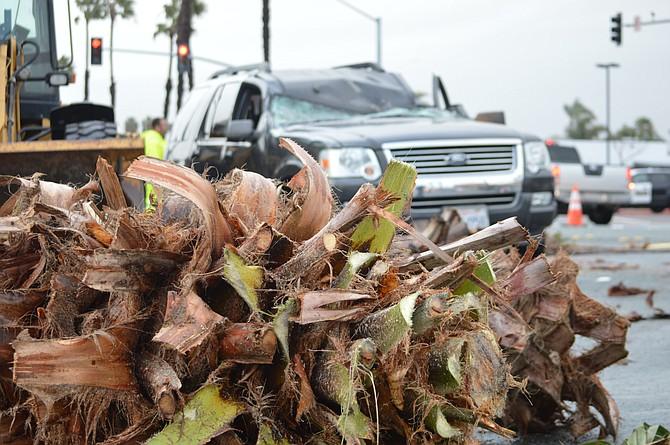 Varios accidentes provocaron las lluvias de finales de enero. Foto-Archivo: Horacio Rentería/El Latino San Diego.