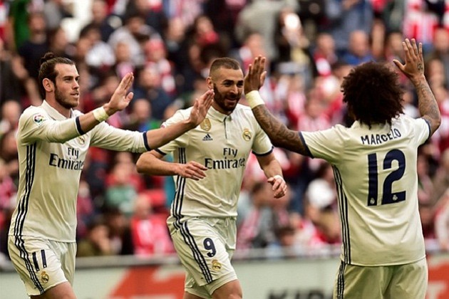 Con goles de Benzema y Casemiro el Real Madrid se afianza como primero en la Liga de España