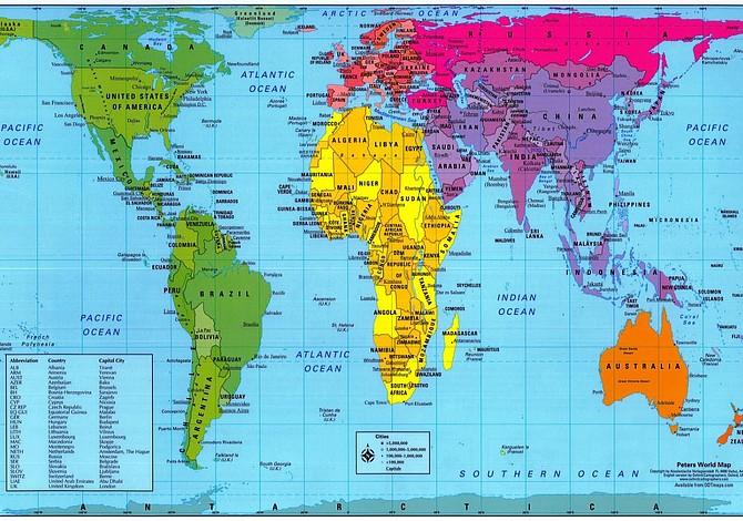 El mapa del mundo que usarán las Escuelas Públicas de Boston