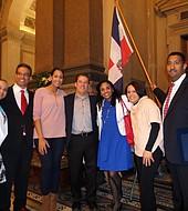 Los miembros del comité son Yocasta Lora, Tony Valdez, Raúl de la Rosa, Jossiel Cruseta y Fulvio Acosta, quien fue el maestro de ceremonias.