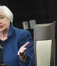 La presidenta de la Reserva Federal (Fed) de Estados Unidos, Janet Yellen, contesta las preguntas de la prensa durante una rueda de prensa  tenida el 15 de marzo en Washington, D.C. EFE/USA.