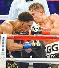 Golovkin no pudo noquear a su contrincante, el estadounidense Daniel Jacobs. Foto-Cortesía. Univision.com