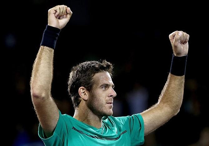 Tenis: Del Potro gana y se cita con Federer en el Abierto de Miami