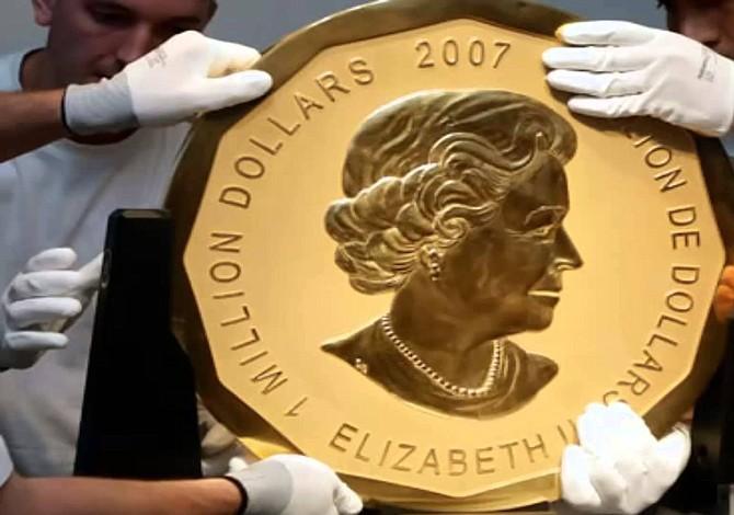 Robada la mayor moneda de oro del mundo en Berlín