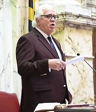 """El presidente del Senado de Maryland, Thomas """"Mike"""" Miller, visto el 22 de marzo en Annapolis, Maryland, ha dicho: """"Yo no he presionado a nadie en el comité, pero definitivamente te diré que el comité no va a votar para permitir que Maryland se convierta en un Santuario """"."""