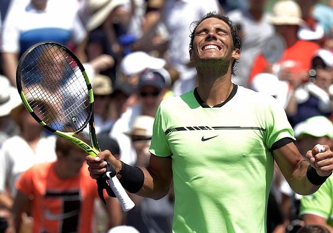 Nadal venció al italiano Fognini y jugará su quinta final en el Masters 1000 de Miami
