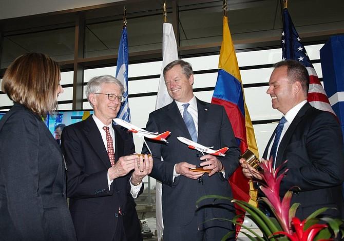 Celebran lanzamiento de la primera ruta sin escalas entre Boston y Suramérica y mejoras al terminal E