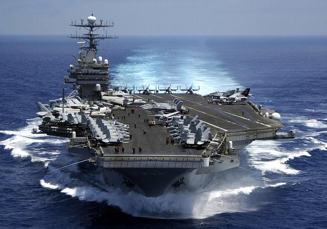 EEUU envió portaaviones hacia la Península de Corea