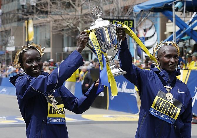 Dos kenianos ganaron el Maratón de Boston 2017