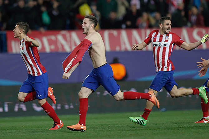 Atletico Madrid advance to Champions League semis