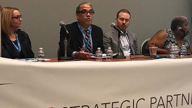 EXPERTOS. El Publicista y CEO de El Tiempo Latino, Javier Marín, durante su intervención en el panel de tecnología y redes sociales de la Business Expo de la Greater Hispanic Chamber of Commerce, el martes 18 de abril de 2017 en el Washington Convention Center en DC.