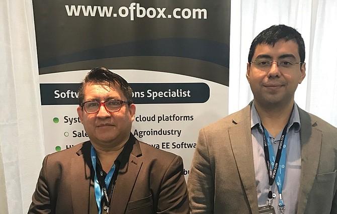 EMPRESARIOS. Los salvadoreños Eduardo Hernández y René Castro de Ofbox.com.