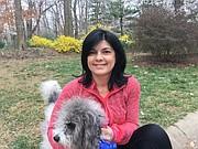 CON SU MASCOTA. Lyda Vanegas con su perra Lola.