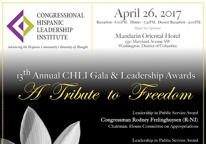 Premiarán al liderazgo en gala de Congressional Hispanic Leadership Institute