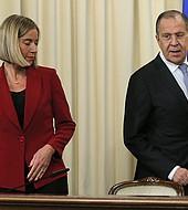 Mogherini reafirmó a Lavrov que la UE no reconocerá la anexión de Crimea