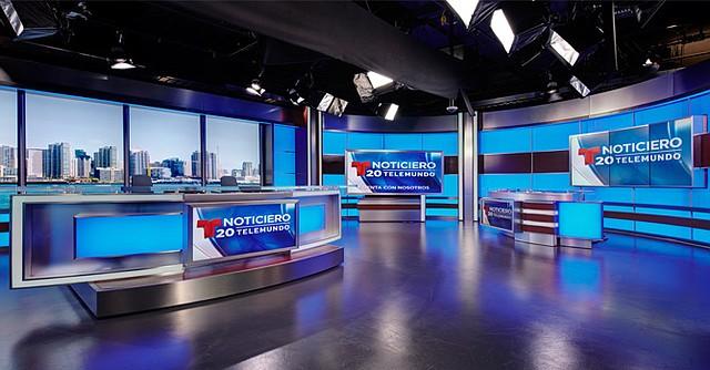Los modernos estudios de noticieros Telemundo 20, San Diego-Tijuana. Foto-Cortesía.