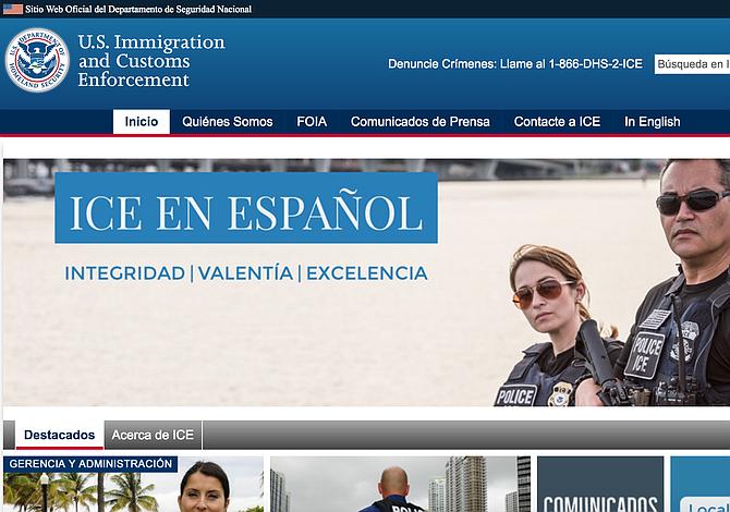 ICE ahora tiene sitio web y cuenta de Twitter en español
