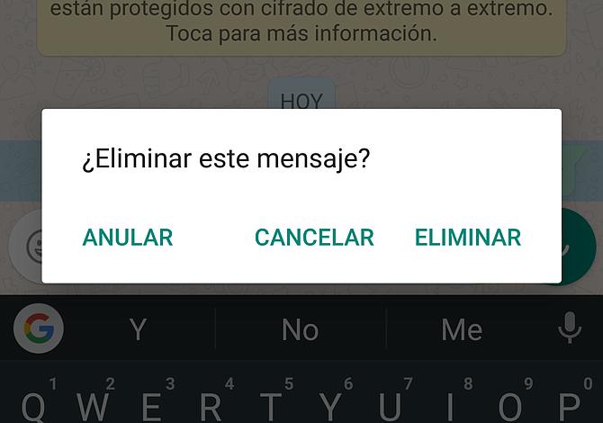 Ya puedes bloquear y anular mensajes en Whatsapp