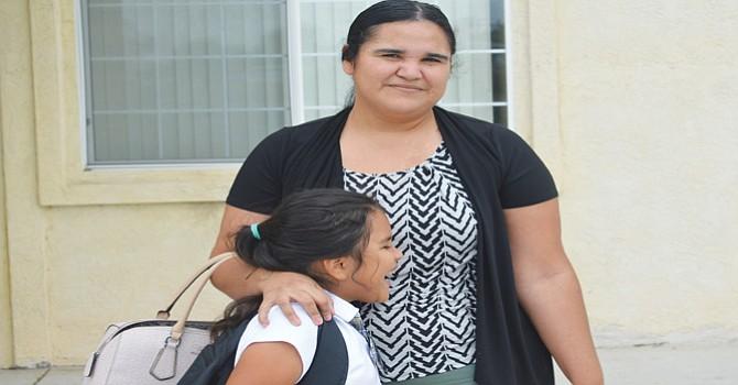 Eunice Olachea, otra de las madres de familia entrevistadas.