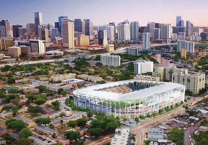El demorado proyecto de estadio de Beckham en Miami se presenta a los vecinos