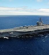 El portaaviones USS Ronald Reagan hace patrullaje cerca de Corea del Norte