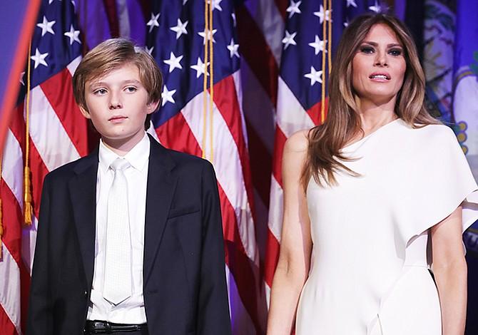 Melania y Barron Trump se mudaron a Washington