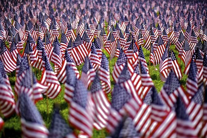 Todos los años el Boston Common es decorado con banderas con motivo del Memorial Day