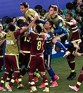 La selección venezolana pasó invicta a los octavos de final y con el arco imbatible