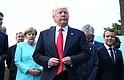 Trump junto a otros líderes mundiales