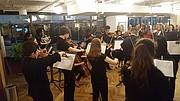 JUNTOS. Los músicos durante su interpretación en Washington, el miércoles 31 de mayo de 2017.