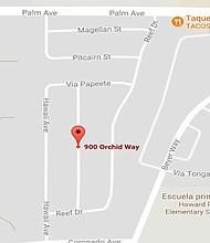 El incidente ocurrió entre la Palm y Coronado Avenue al oeste de Otay Mesa.