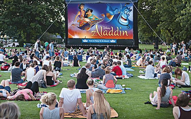 Aladdin en el parque