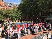 UNIDOS. Venezolanos que se congregaron en la Universidad Georgetown.
