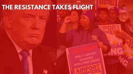 Trabajadores tomarán el Aeropuerto de Filadelfia en protesta