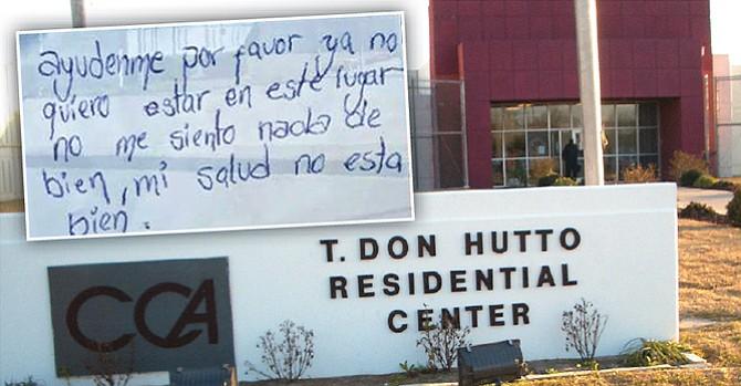 Corre peligro la vida de una detenida en el T. Don Hutto