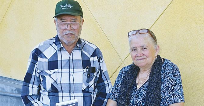 El matrimonio formado Salvador Zamora Rodríguez y su esposa, María Amador Zamora, dos ciudadanos nativos de Zamora, Michoacán, México, quienes acudieron a votar en las elecciones del 8 de noviembre del 2016.