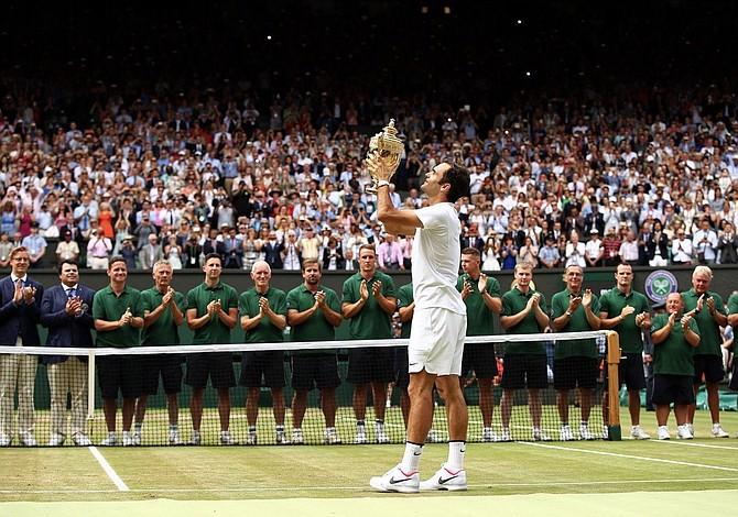 Roger Federer Logró su octavo título de Wimbledon y se convierte en el más ganador del torneo londinense
