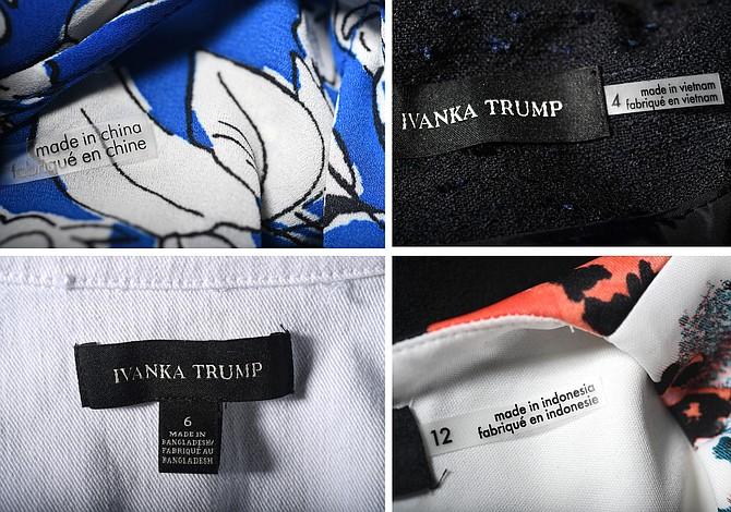 """La Casa Blanca revela semana de lo """"Hecho en EEUU"""" pese a que muchos productos de la Organización Trump son hechos afuera"""