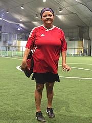 Doris Fugón dedica sus horas libres al fútbol.