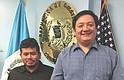 DIRECTIVOS. Kelvin González (izq.) y Carlos Lam Jr. Secretario y Presidente de la Junta Directiva de la Asociación Guatemaltecos Sin Fronteras.