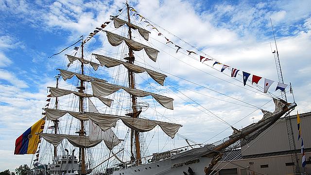 """El """"Embajador flotante de Colombia en los mares del mundo"""" estará en Boston este fin de semana"""