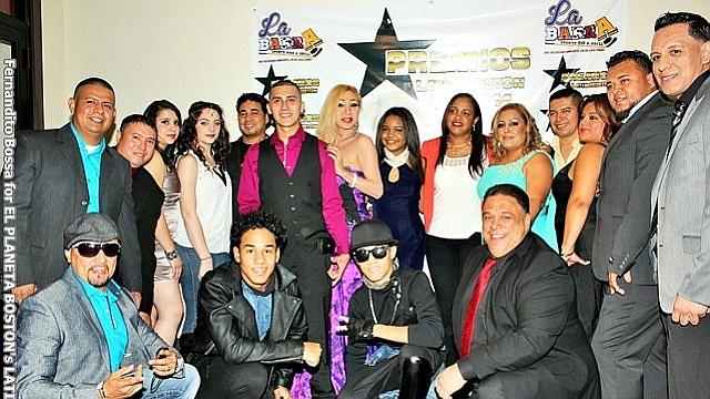 Celebrando los Premios Latin Boston en 2014.