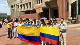 Parte de la comitiva de Colombia que visitó Boston en julio