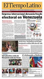 La portada de la edición de El Tiempo Latino del 4 de agosto de 2017.