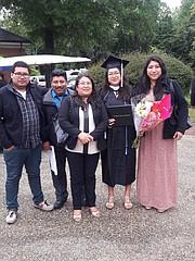 LA FAMILIA. José, Jesús Macario, Esperanza, María Lourdes y Karina.