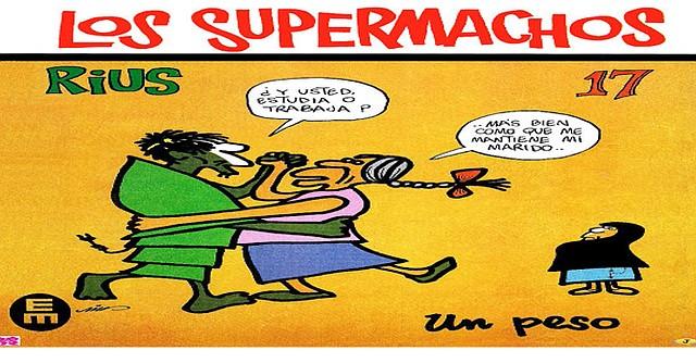 Copia de la portada de una historieta de Los Supermachos de Rius. Foto-Cortesía: comicsmexicanosdejediskader.blogspot.com