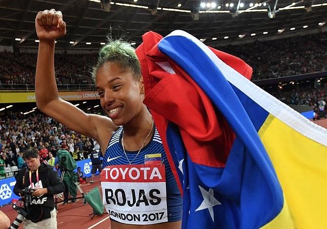 Sudamericana Yulimar Rojas se colgó medalla de oro al ganar el Salto Triple en Londres 2017
