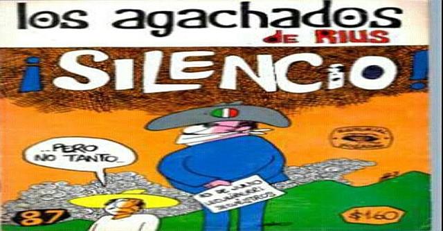 Los Agachados, historieta que llegó con toda fuerza a los lectores mexicanos por su contenido de irónico humorismo. Foto-Cortesía: pinterest.com