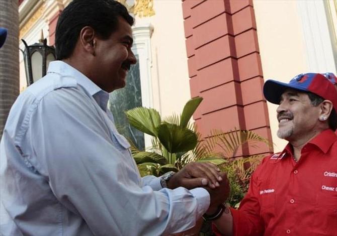 Maradona, soldado de Maduro y chavista hasta la muerte